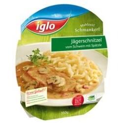 Iglo Mahlzeit! Schmankerl - Jägerschnitzel vom Schwein mit Spätzle