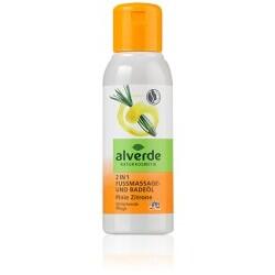 Alverde - 2 in1 Fußmassage und -Badeöl Pinie Zitrone
