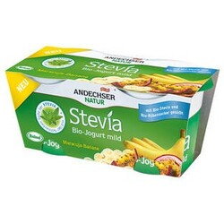 Andechser - Stevia Bio-Jogurt mild Maracuja-Banane