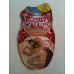 Granatapfel-Mark Tuchmaske mit roter Tonerde