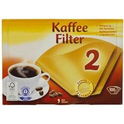 300 Größe 2 ungebleicht braun 1x2 Kaffee-Filtertüten Papier Filterpapier