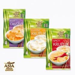 Asia Green Garden: Spicy Krupuk, Classic Krupuk, Asia Cassave