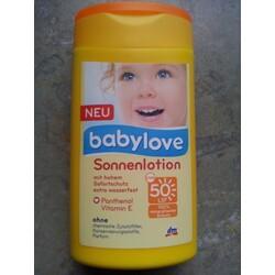 babylove sonnenlotion NEU