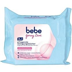 bebe young care 3 in 1 pflegende Reinigungstücher für empfindliche und trockene Haut