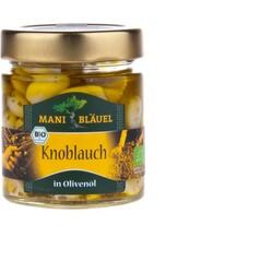 Mani Bläuel Bio Knoblauch mit Kräutern in Olivenöl (120g Glas)