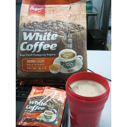 Super 3 in1 Brown Sugar White Coffee, Charcoal Roasted