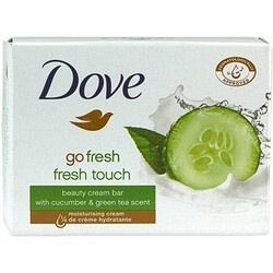 Dove beauty cream bar with cucumber & green tea scent