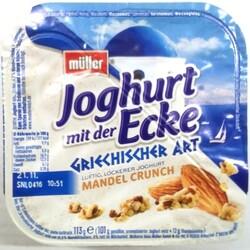 Müller Joghurt mit der Ecke Griechischer Art Mandel Crunch