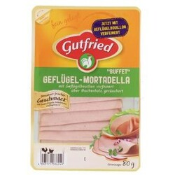 """Gutfried - Geflügel-Mortadella """"Buffet"""", 80 g"""