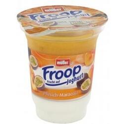 Müller Froop - Frucht auf Joghurt: Pfirsich-Maracuja