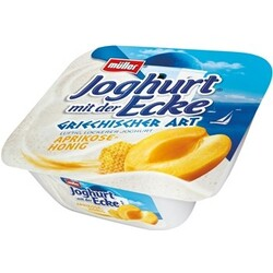 Müller Joghurt mit der Ecke Griechischer Art Aprikose-Honig