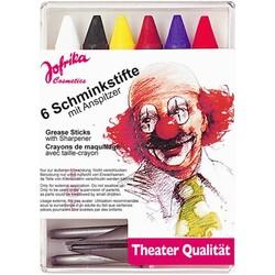 Jofrika Karnevalsaccessoire Schminkstifte 6-teilig mit Spitzer