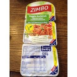 Zimbo veggie-Aufstrich nach Art einer Zwiebelmettwursr