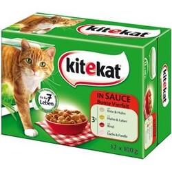 Kitekat Bunte Vielfalt in Sauce Katzenfutter nass 12x 100g