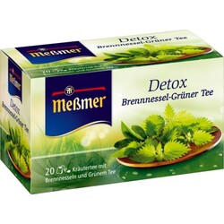 Meßmer Detox Brennnesnessel-Grüner Tee  20 Beutel à 2 g