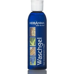 Herbanima Waschgel bei trockenem Haar - VEGAN