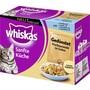 Whiskas 12x Gedünsteter Fisch Nassfutter für Katzen 12x 85g