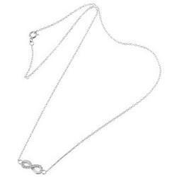 ebelin 925 Silber Kette mit Unendlichkeitszeichen