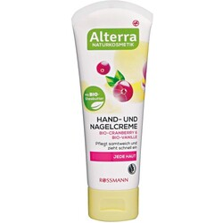 Alterra Hand- und Nagelcreme Bio-Cranberry & Bio-Vanille