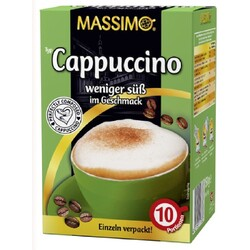 Massimo Cappuccino weniger süß im Geschmack
