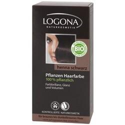 Logona Pflanzen-Haarfarbe-Pulver. Henna-Schwarz