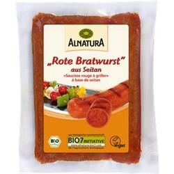 Rote Bratwurst aus Seitan