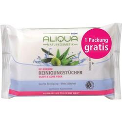 Aliqua Pflegende Reinigungstücher Olive & Aloe Vera