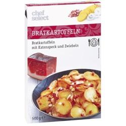 chef select Bratkartoffeln mit Katenspeck und Zwiebeln