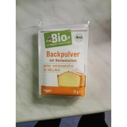 dm Bio Backpulver mit Reinweinstein