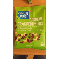 Genuss Plus Cashew-Cranberry-Mix