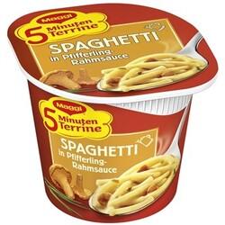 Maggi 5 Minuten Terrine Spaghetti in Pfifferling-Rahmsauce, 52 g
