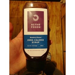 Bulk Powders Active Foods Blueberry Flavour Zero Calorie Syrup