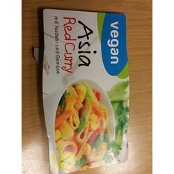 Jütro Vegan Asia red Curry Mit Nudeln und Gemüse