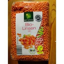 Bio Sonne Bio-Linsen Rot