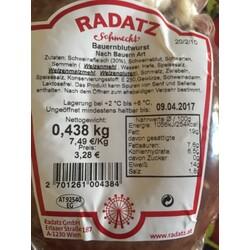 Radatz schmeckt Bauernblutwurst nach Bauernart