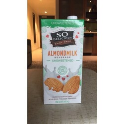 Unsweetened So Delicious Almond Milk Beverage Carrageenan-Free