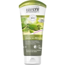 Lavera glättendes Dusch-Peeling - Bio-Wirkstoffkomplex aus Grünem Kaffee, Grüntee, Trauben & Rosmarin