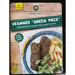 "Veggyness Veganes ""Green Piece"" Seitanbratstück mit Würziger Kräuter-Spinat-Marinade"