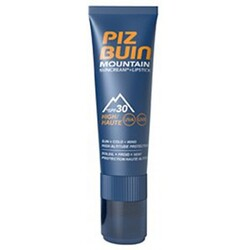 PIZ BUIN Mountain Sun Cream & Lipstick LSF30