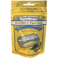 Grether's Pastilles Blackcurrant sugarfree Nachfüllbeutel, 2 Stück