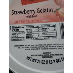 Reser's Fine Foods, Inc Strawberry Gelatin With Fruit
