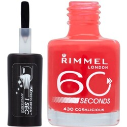 Rimmel 60 Seconds Nail Polish 430 coralicious