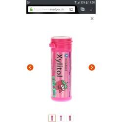 miradent Xylitol Chewing Gum Erdbeere für Kinder