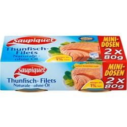Saupiquet Thunfischfilets Naturale ohne Öl  2x 80 g