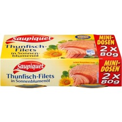 Saupiquet Thunfischfilets in Sonnenblumenöl 2 x 80 g