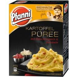 Pfanni Kartoffel Püree mit Räucherspeck § Zwiebeln 2x 75g