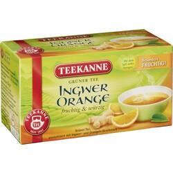 Teekanne Grüner Tee Orange und Ingwer 20 Beutel à 1,75 g