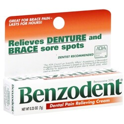 Benzodent Pain Relieving Cream