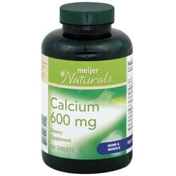 Meijer Naturals Calcium