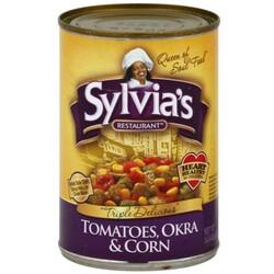 Sylvias Tomatoes, Okra & Corn